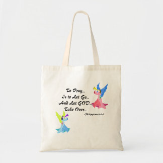 Religious Encouragement Quote Tote Bag