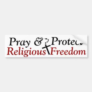 Religious Freedom Bumper Sticker Car Bumper Sticker