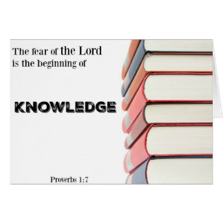 Religious Graduation Card-Beginning of Knowledge Card
