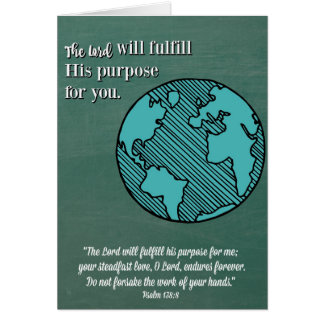 Religious Graduation Card-The Lord's Purpose Card