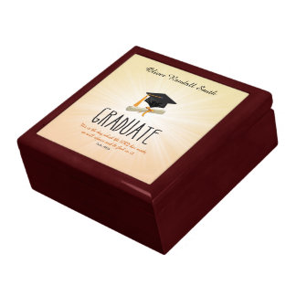 Religious Graduation Gold Starburst with Black Cap Gift Box