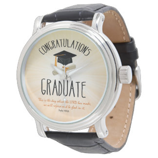 Religious Graduation Gold Starburst with Black Cap Watch