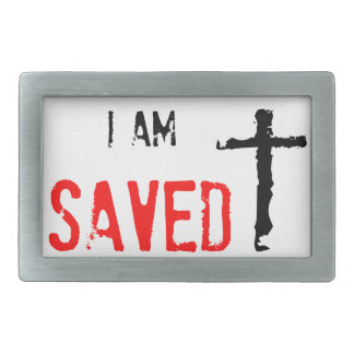 Religious I Am Saved Belt Buckle