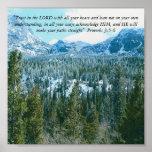 Religious Inspirational Mountain Poster