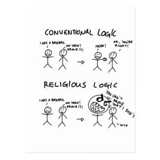Religious Logic Postcard