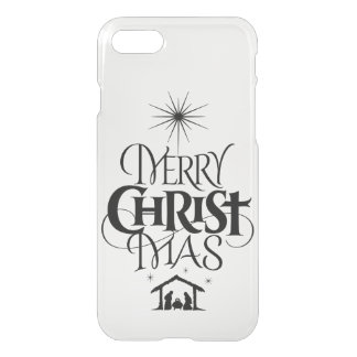 Religious Merry Christmas Christ Mas Calligraphy iPhone 8/7 Case