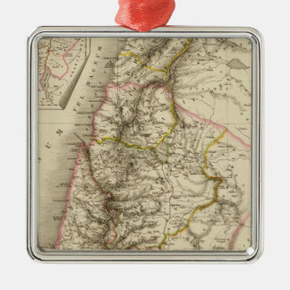 Religious Middle East atlas map Silver-Colored Square Decoration