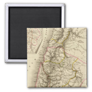 Religious Middle East atlas map Square Magnet