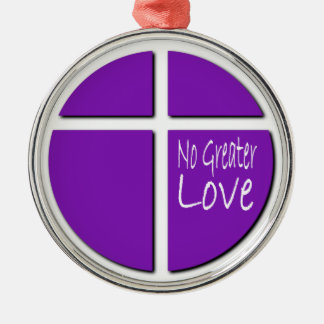 Religious No Greater Love Christian Cross Christmas Ornament