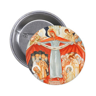 Religious painting 6 cm round badge