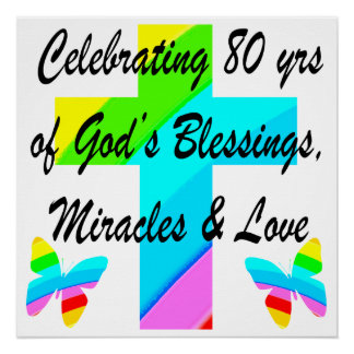 RELIGIOUS PERSONALIZED 80TH BIRTHDAY DESIGN