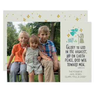Religious Photo Christmas card with Biblical verse