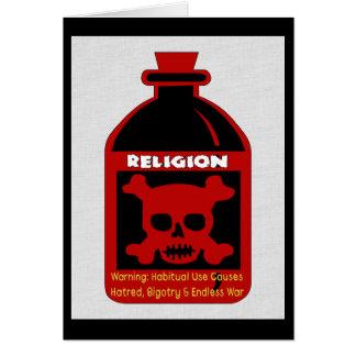 Religious Poison Greeting Card