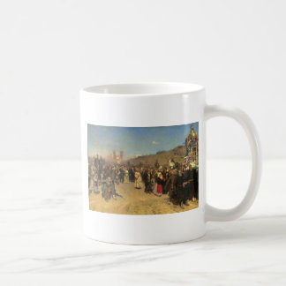 Religious Procession in Kursk Province Basic White Mug