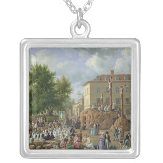 Religious Procession to Mont Valerien, 1819 Silver Plated Necklace