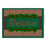 Religious Rejoice Christmas Card