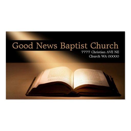 Religious religion christian pastor christianity business cards