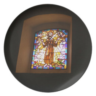 Religious Stained Glass Window Plate