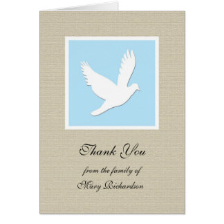 Religious Sympathy Thank You Card - Dove
