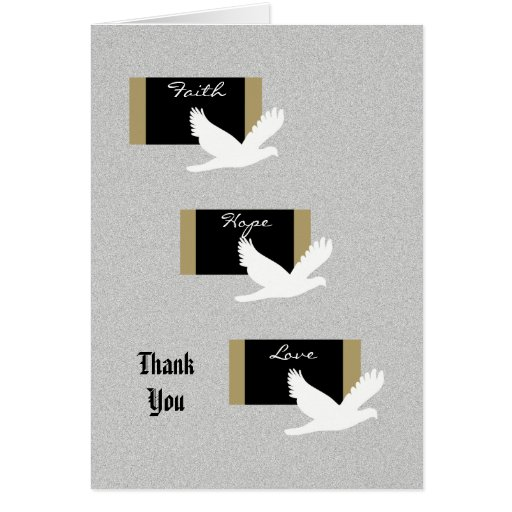 Religious Sympathy Thank You Card - Doves