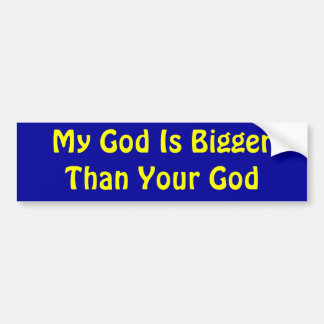 Religious War Bumper Sticker