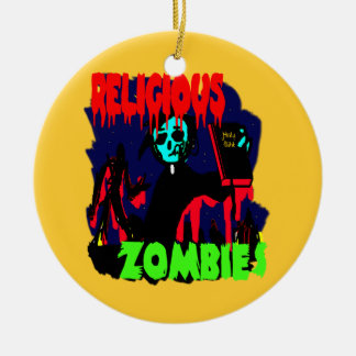 Religious Zombies Double-Sided Ceramic Round Christmas Ornament