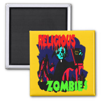 Religious Zombies Square Magnet