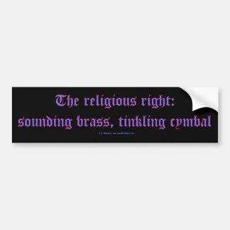 ReligRightBrassCymbal Bumper Sticker