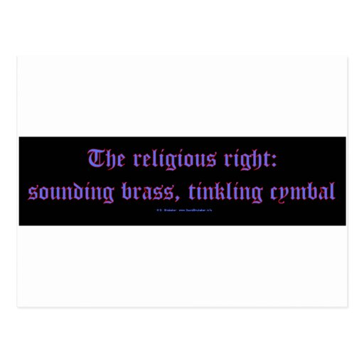 ReligRightBrassCymbal Post Card