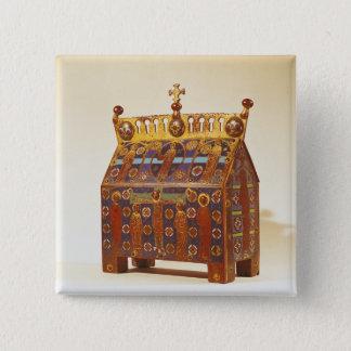 Reliquary chest, 12th-13th century 15 cm square badge