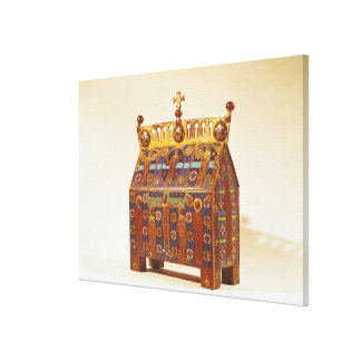 Reliquary chest, 12th-13th century canvas print