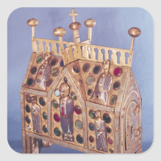 Reliquary chest in the form of a house, Limousin Square Sticker