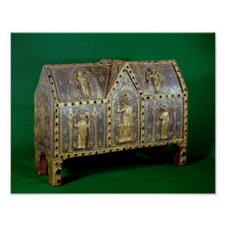 Reliquary chest of St. Calminius, Limoges Print
