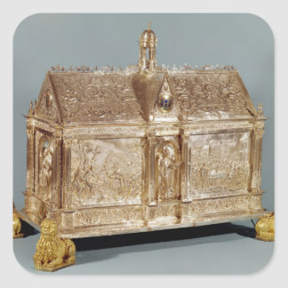 Reliquary chest of St. Macairius  of Ghent, 1616 Square Sticker