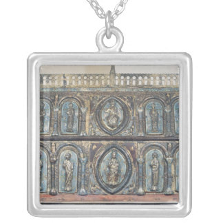 Reliquary chest of St. Viance, Limousin School Silver Plated Necklace