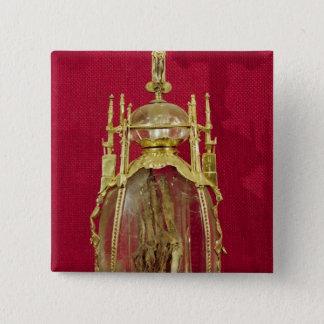Reliquary containing the hand of St. Attalia 15 Cm Square Badge