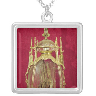 Reliquary containing the hand of St. Attalia Silver Plated Necklace