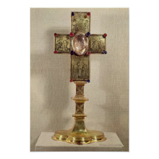 Reliquary cross of Pope Urban V  1368-78 Poster