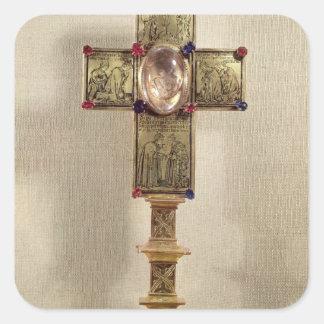 Reliquary cross of Pope Urban V  1368-78 Square Sticker