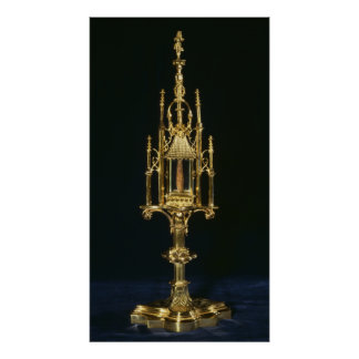Reliquary Monstrance with piece of cross Poster
