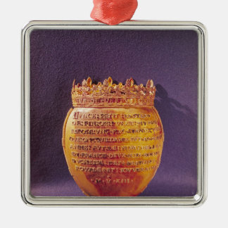 Reliquary of the Heart of Anne of Brittany Silver-Colored Square Decoration