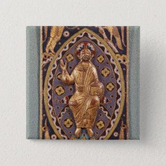 Reliquary plaque depicting Christ 15 Cm Square Badge