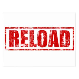 Reload! - Video Game Gamer Gaming Shoot Gun Post Card