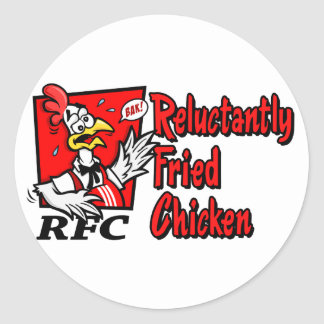Reluctantly Fried Chicken Round Sticker
