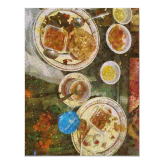 Remains of a meal 11 cm x 14 cm invitation card