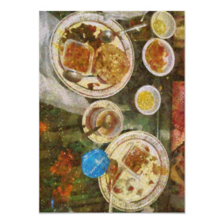 Remains of a meal 11 cm x 16 cm invitation card
