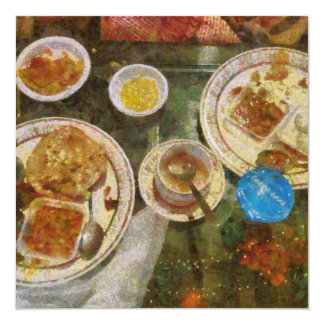 Remains of a meal 13 cm x 13 cm square invitation card