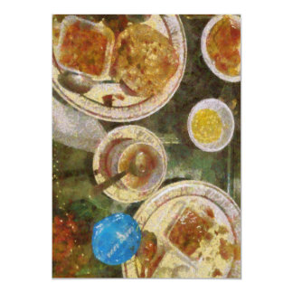 Remains of a meal 13 cm x 18 cm invitation card
