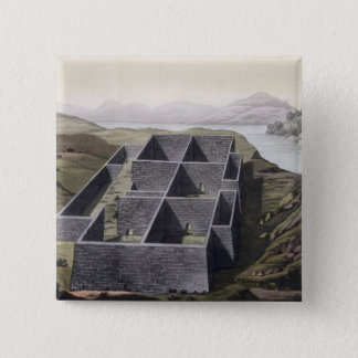 Remains of an Inca palace at Callo, Peru, from 'Le 15 Cm Square Badge