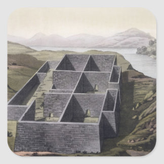 Remains of an Inca palace at Callo, Peru, from 'Le Square Sticker